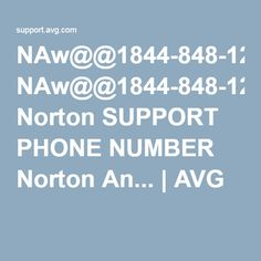NAw@@1844-848-1262 Norton SUPPORT PHONE NUMBER Norton An... | AVG
