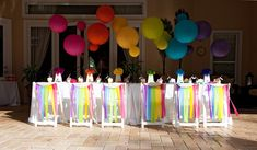 Rainbow + Chevron Arts & Crafts Party