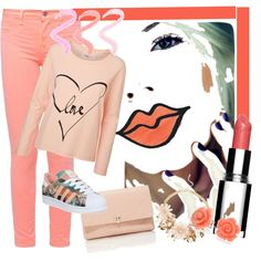 """pale pink"" by diaparsons on Polyvore"