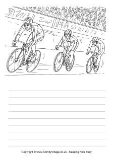 Use our track cycling story paper to tell a story about a race, write about a race you have watched, or describe the sport and what you see in the picture. Creative Writing Worksheets, Worksheets For Kids, Writing Activities, Handwriting Lines, Detailed Coloring Pages, Cycle 1, Writing Station, Writing Pictures, Track Cycling