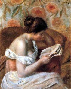 """Reading Woman"", 1891 / Pierre-Auguste Renoir (1841-1919) *"