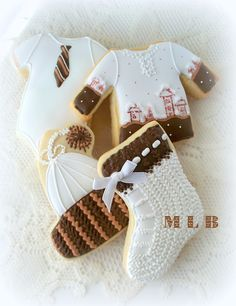 My little bakery :): Baby Boy cookie set.....