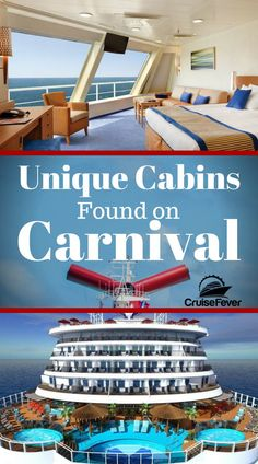 Let's check out some cruise cabins you will only find on Carnival cruise ships in this post. Which kind of cabin would you like? From Harbor staterooms to Havana staterooms there are a few unique options with Carnival. Packing List For Cruise, Cruise Travel, Cruise Vacation, Travel Money, Packing Lists, Travel Tips, Europe Packing, Traveling Europe, Vacation Deals