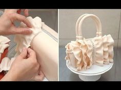 How To Make a Ruffle Handbag Cake by CakesStepbyStep - YouTube