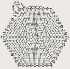 Шестиугольные мотивы крючком. Подборка схем