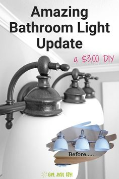 DIY Home Decor, discover those suggestions one will need to bring to fruition one DIY house decorating. Visit diy home decor ideas pin number 5362487856 today. Bathroom Light Fixtures, Bathroom Vanity Lighting, Diy Wall Decor, Diy Home Decor, Decor Crafts, Room Decor, Simple Bathroom, Master Bathroom, Paint Bathroom