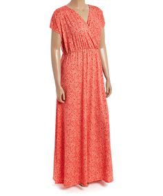 Coral Paisley Maxi Dress - Plus by GLAM #zulily #zulilyfinds