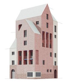 modelarchitecture:by Uwe Schröder Architecture Graphics, Architecture Drawings, Classical Architecture, Architecture Plan, Interior Architecture, Revit, Arch Model, Architecture Visualization, Urban Design