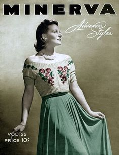 Minerva Knitting Book #55 c.1939 Vintage Fashions REPRO Seller: Iva Rose Vintage…