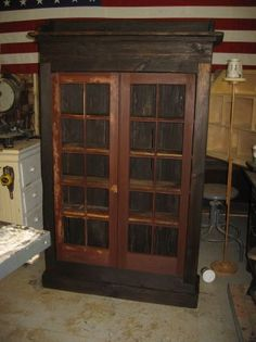 Antique barn wood custom made cabinet