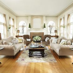 Traditional Living Room by Arhaus