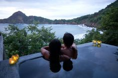 aqua resort, by el gigante en nicaragua. ryan and i swam in this exact pool while the villa was unoccupied. amazing view, especially during the nightly lightning storms.