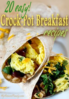 20 Easy Crock Pot Breakfast Recipes – Wake Up to A Delicious Meal! - See different slow cooked recipes by Selecting the photo Crock Pot Food, Crock Pot Slow Cooker, Slow Cooker Recipes, Cooking Recipes, Slow Cooking, Clean Eating Breakfast, Breakfast Dishes, Breakfast Time, Protein Breakfast