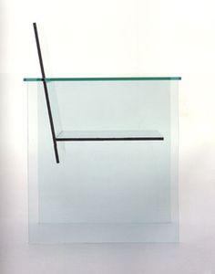 Class Chair Year: 1976 Body: glass Photobond 100 adhesive Manufacturer: Mihoya Glass Co. Collection: Kazuko Koike & Ken Frankeli Size: x x