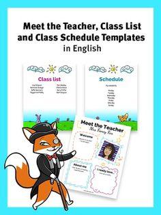 class lists templates for teachers