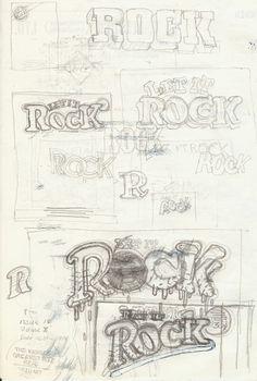 Barney Bubbles' Let It Rock redesign roughs.