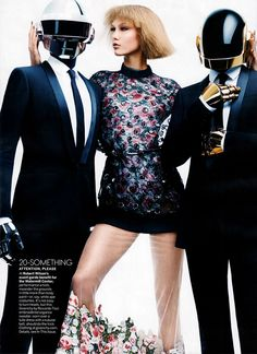 Karlie Kloss & Daft Punk for Vogue US August 2013 by Craig McDean
