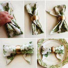 Porta-guardanapo de Laço   Delicadamente simples...