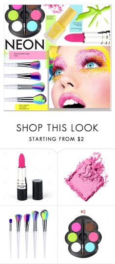 """""""Beauty Neon"""" by yexyka ❤ liked on Polyvore featuring beauty and Bobbi Brown Cosmetics"""