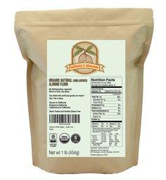 Natural Almond Flour: USDA Organic & Certified Gluten-Free