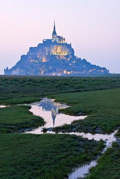 Medieval Castle, Mont-Saint-Michel in Normandy, France Places To Travel, Places To See, Beautiful World, Beautiful Places, Travel Around The World, Around The Worlds, Le Mont St Michel, Medieval Castle, Normandy France