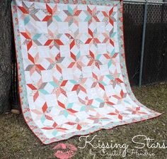 Embrace the subtle beauty of lone star quilt patterns with this bed quilt tutorial. This tutorial for how to make a lone star quilt finishes at the size of a queen bed and has a playful color scheme quilters will love. Layer Cake Quilt Patterns, Charm Pack Quilt Patterns, Layer Cake Quilts, Charm Pack Quilts, Layer Cakes, Charm Quilt, Lone Star Quilt Pattern, Star Quilt Patterns, Star Quilts