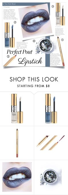 """""""Perfect lips"""" by yourstylemood ❤ liked on Polyvore featuring beauty, Yves Saint Laurent, Dolce&Gabbana, In Your Dreams, makeup, polyvoreeditorial, polyvorecontest, metallicmakeup and metalliclipstick"""