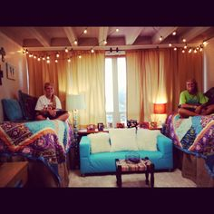 Roommates can coordinate to create a cool unified college dorm room theme. This has a definite Moroccan or bohemian vibe Ok seriously I do love this room- dorm or not Room, Dream Room, Home, College Living, College Dorm Rooms, Dorm Rooms, Dorm, Dream Rooms, Dorm Room Themes