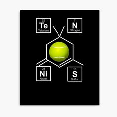 'Awesome Tennis gift for tennis players My Canvas, Canvas Prints, Art Prints, Periodic Elements, Tennis Gifts, Tennis Players, Spelling, Vibrant Colors, Periodic Table