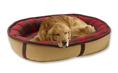 Red plaid Wrap around bolster dog bed memory foam