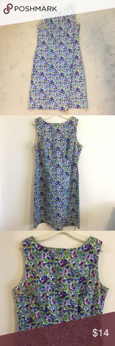 NWOT Purple Floral Dress super cute purple floral dress! only used once for a party! 10/10 condition! Macy's Dresses