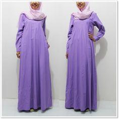 Dress Lavender Merk Le Couture. Bisa kamu pake seharian karena gamis/ dress ini material katun yang menyerap keringat.  #csdnhijab #gamiskatun