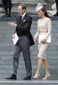 Kate Middleton In Alexander McQueen    We love a good fashion repeat: The pennywise princess wore these hidden platform pumps all last summer. She knows which silhouette works for her and this dress is no exception. On another note, wouldn't this make a lovely City Hall wedding dress?
