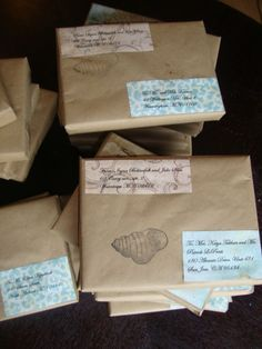 DIY Beach Wedding Invitations in the Box - Meridian Bride  LOVE!!!!!!  We decided to use this for mailing the invites