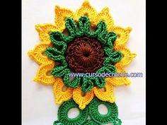 FLOWERS IN CROCHÊ 085 SUNFLOWER FLOWER KING RICH