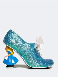 - Grab your mismatching teacups and saucers with these glittery booties and get ready for a mad tea party! - Ribbon laced ankle boots have an oxford-inspired panel upper with scallop trim and a shrunk