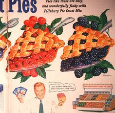 vintage pillsbury pie advertisement 1952 by FrenchFrouFrou on Etsy, $14.95