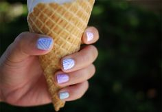 Tribal print pastel manicure that's super easy to DIY. Just grab a nail art pen n' some polish! <3