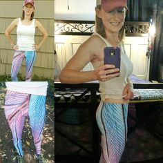 AKA Style Co. Hummingbird Microphotography Feather Leggings! Customer photo. Find them here >> https://www.akastyleco.com/products/hummingbird-feather-macro-photography-leggings
