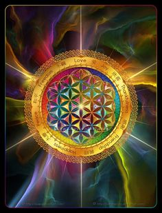 Sacred Geometry - Flower of Life 2# by `Lilyas on deviantART.