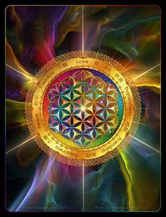 Geometría Sagrada - Flor de Vida 2 * por ` Lilyas sobre deviantART.