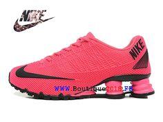 timeless design 6ce61 537fa Nike Shox 125 Deliver Chaussure de Nike Running Pas Cher Pour Femme Rose    noir-