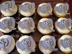 Elephant cupcakes made for Safari theme party