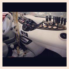 Built in Make up holder for your dashboard