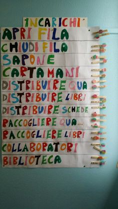 Cartellone incarichi Classroom Jobs, Classroom Organization, Classroom Management, Math 2, Doodles, Teaching, How To Plan, Education, Holiday Decor