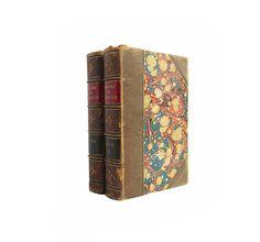 Theatre de Pierre et de Thomas Corneille - Two volume leatherbound set from 1859 - Free US Shipping
