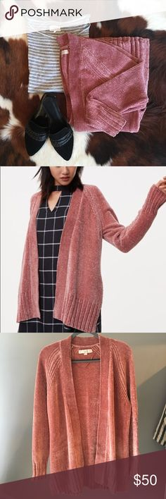 c2b3895571 LOFT Pink Chenille Cardigan Pink chenille cardigan from LOFT 🌸 Color is  true to first and