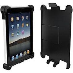 Ballistic New iPad and iPad 2 Ballistic Tough Jacket Series Case - iPad - Black, White - Plastic, Polymer, Silicone