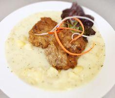 Denné menu Vranov | Výpečky z mletého mäsa na zemiakovom prívarku, chlieb - reštaurácia Hotel Patriot*** #hotel #restaurant