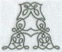 Machine Embroidery Designs at Embroidery Library! - A Celtic Knotwork Alphabet Design Pack (4 Inch Height)